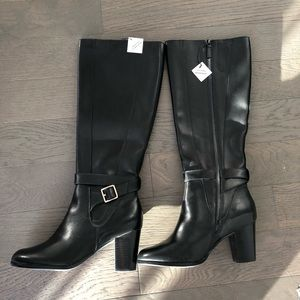Cole Haan leather boots with heels black size 7
